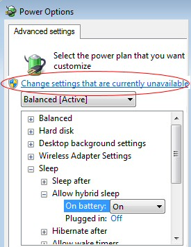 Windows 7 Hybrid Sleep  (Powercfg)
