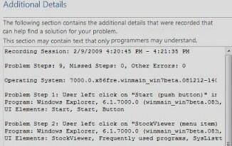Windows 7 PSR Additonal Details