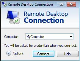 Configure Remote Desktop Connection