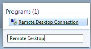 Configure Remote Desktop Connection