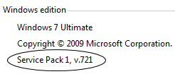 Windows 7 SP1 7601 Changes
