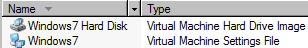 Virtual PC 2007 files vhd