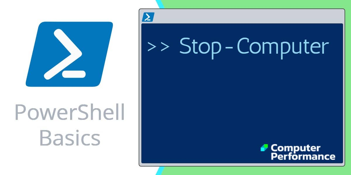 PowerShell Basics_ Shutdown Command Stop-Computer