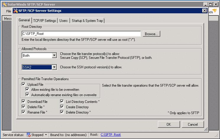 SolarWinds SFTP Server