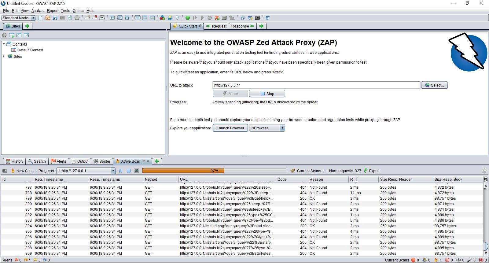 OWASP Zap Screenshot