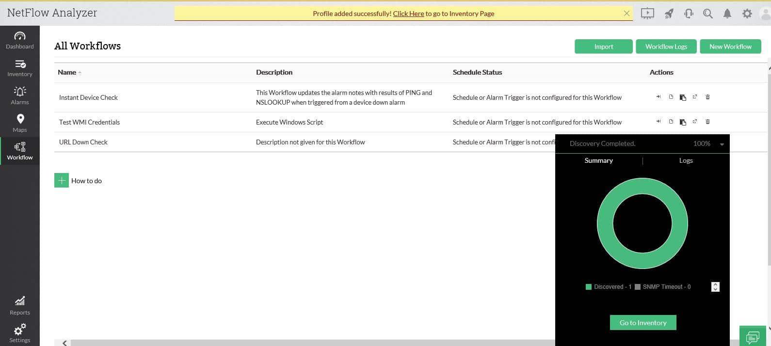 Manage Engine NetFlow Analyzer screenshot
