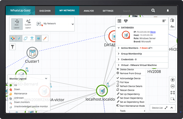WhatsUp Gold Virtualization Monitoring